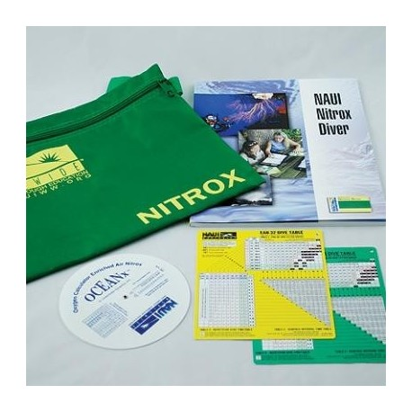 NAUI Nitrox/Enriched Air Book Pack + tables Pack Only