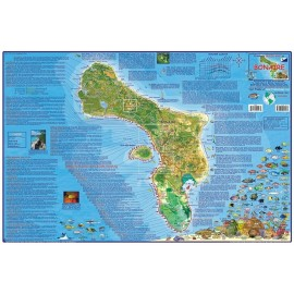 "Bonaire Map-LAMINATED 18.5""x26.5"""