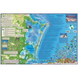 "Cancun and the Riviera Maya- LAMINATED 25.2"" x 16.8"""