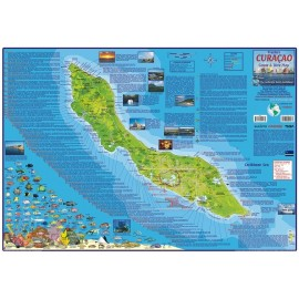 "Curacao Map - LAMINATED 18.5""x26.5"""