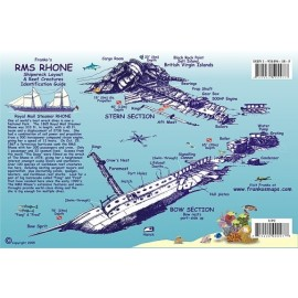"RMS Rhone Wreck AND BVI Reef 6""x9"" LAMINATED"