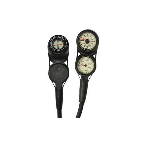 Sea Elite Slimline 3 SPG Gauge, Depth Gauge & Compass Console