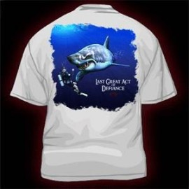 Deep Down Last Great Act Tee-White T-Shirt